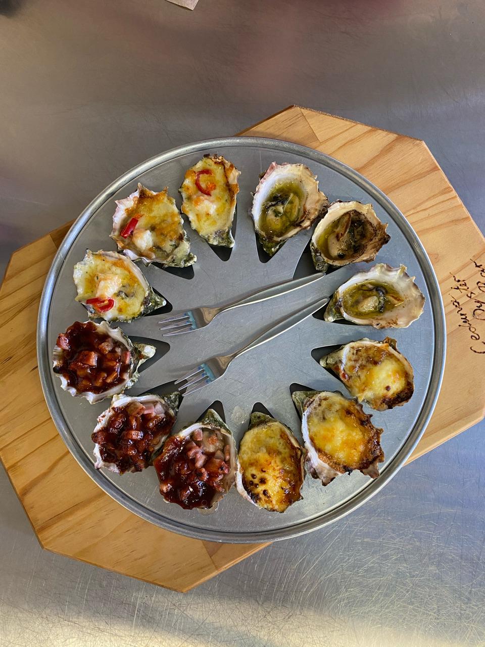 Ceduna Oyster Barn baked oysters